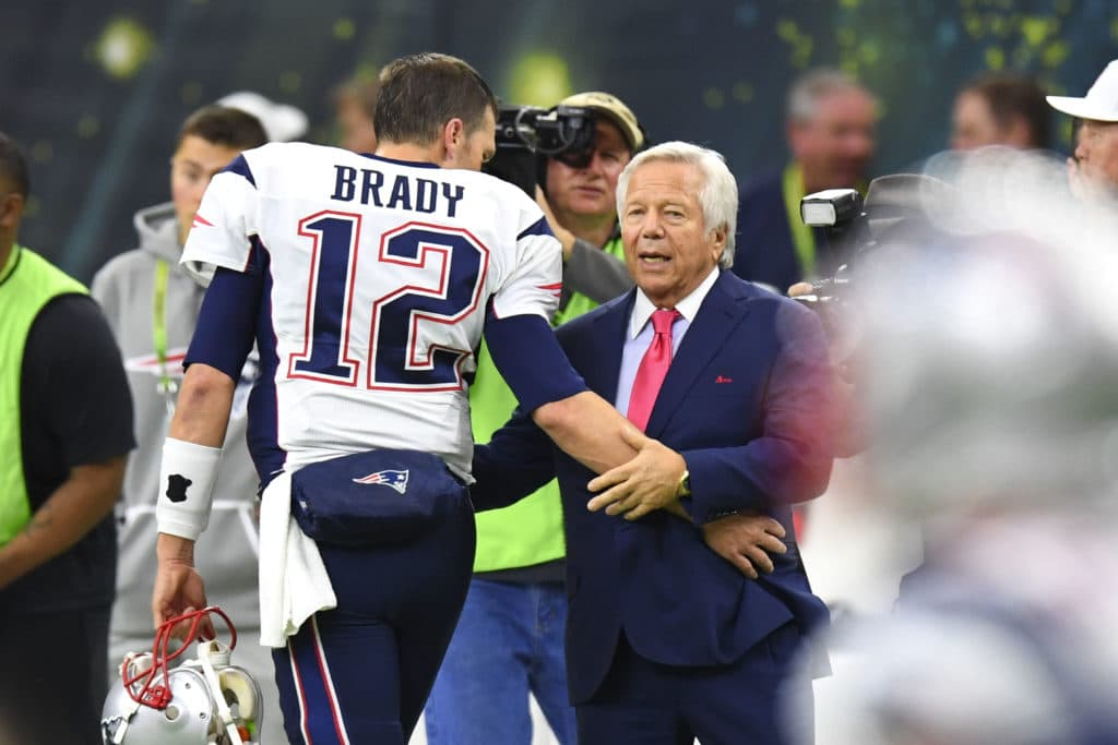 Patriots boss Kraft wants Brady 'for as long as he can'