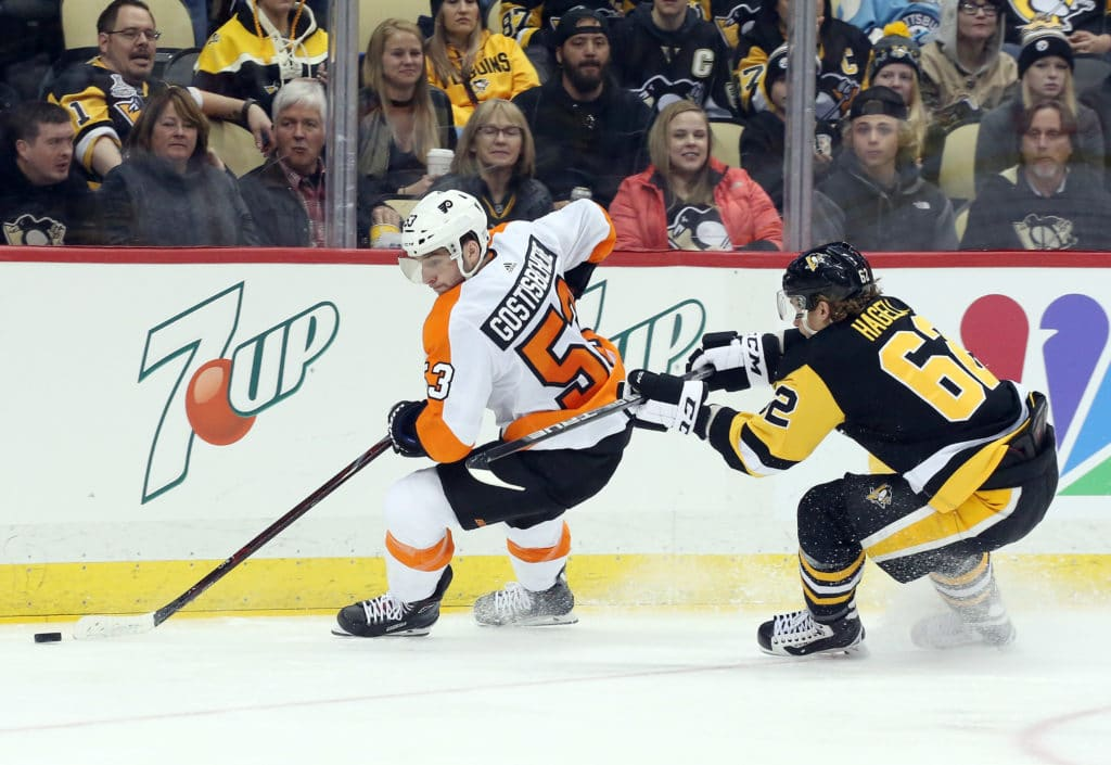 Sidney Crosby's hat trick leads Penguins past Flyers 7-0