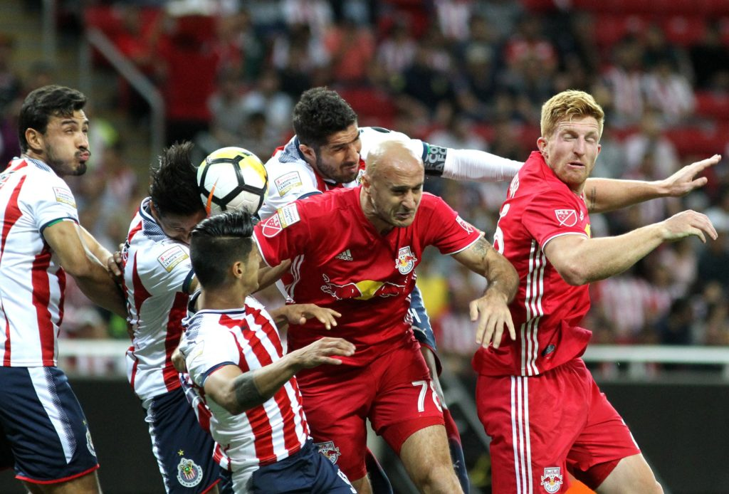 Red Bulls look to overcome deficit boisterous traveling fans in second leg of Champions League semifinal