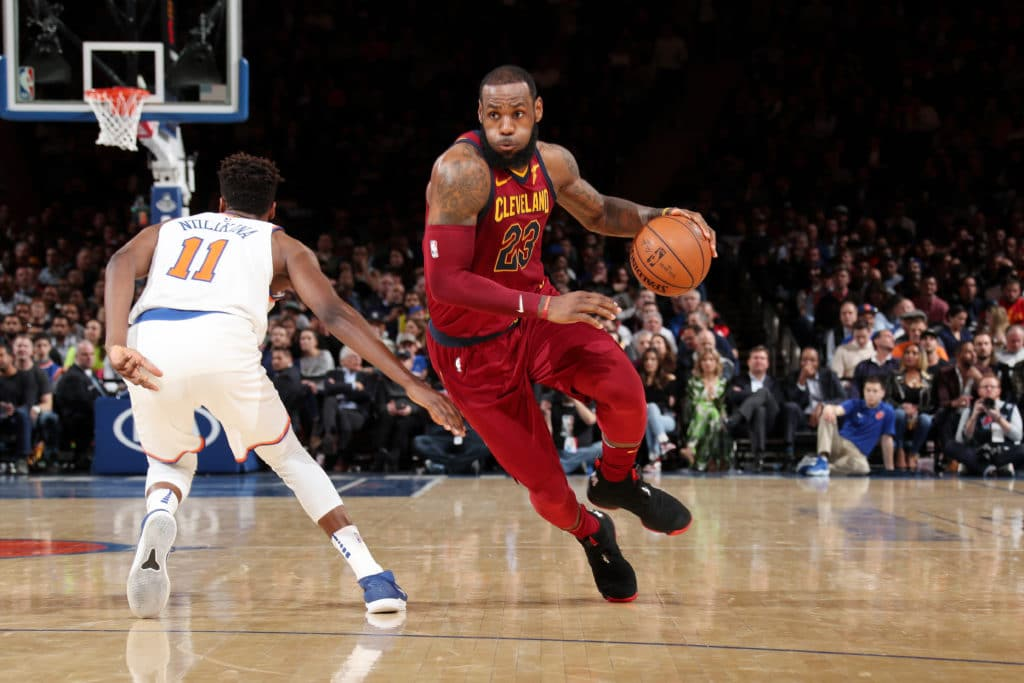 Knicks lose to Cavaliers in season finale as Frank Ntilikina impresses Le Bron James dominates