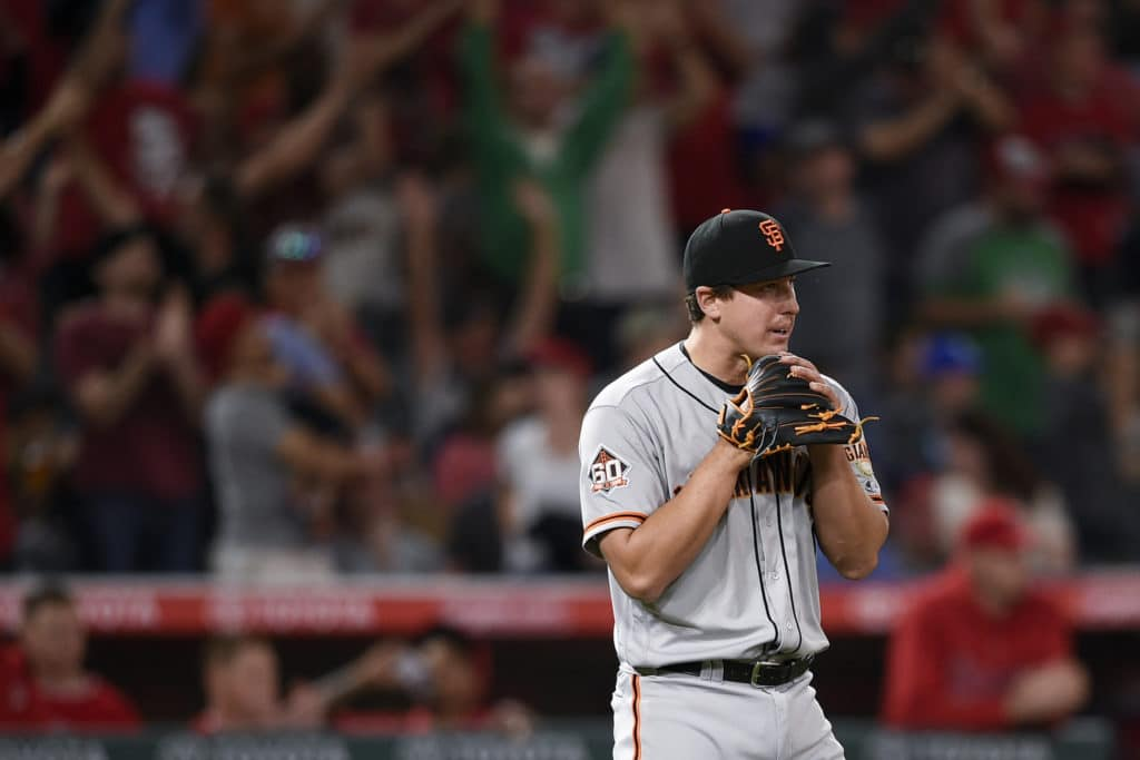 Holland serves up three home runs, Angels come back to sink Giants