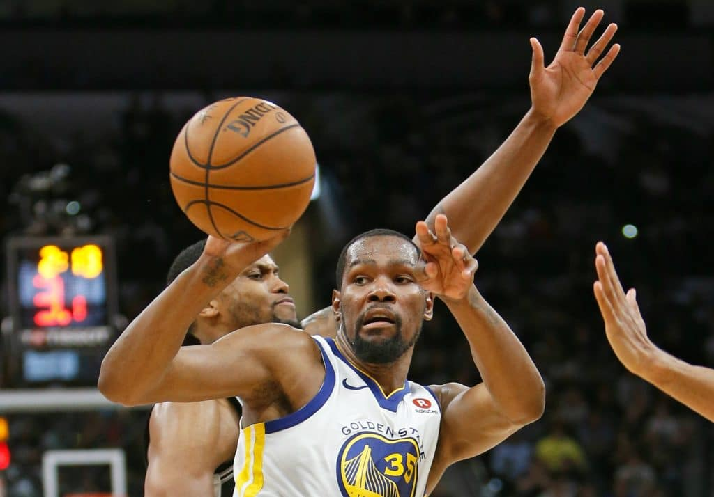National Basketball Association playoffs 2018: Warriors eliminate Spurs with Game 5 victory