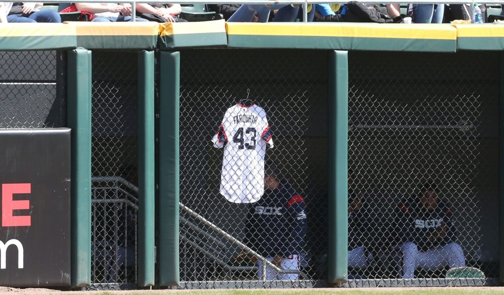 White Sox RHP Danny Farquhar suffered brain hemorrhage during Friday's game