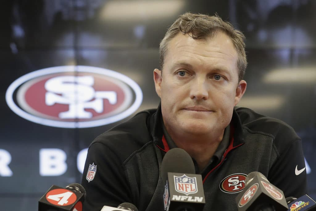 GM John Lynch says 49ers remain in contact with Eric Reid