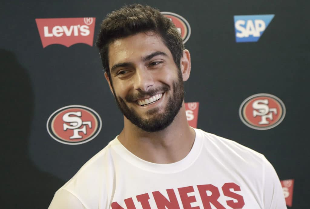 John Lynch Jimmy Garoppolo and Joe Staley all speak on a busy pre-draft day at 49ers headquarters