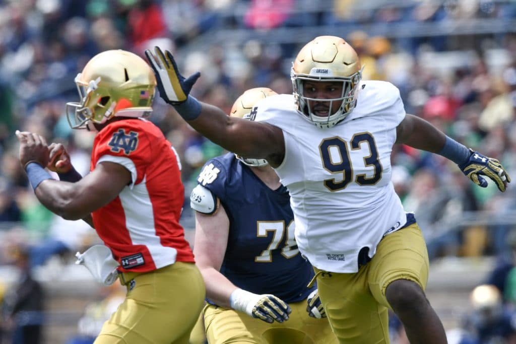 Ex-ND DL Jay Hayes will transfer to Georgia