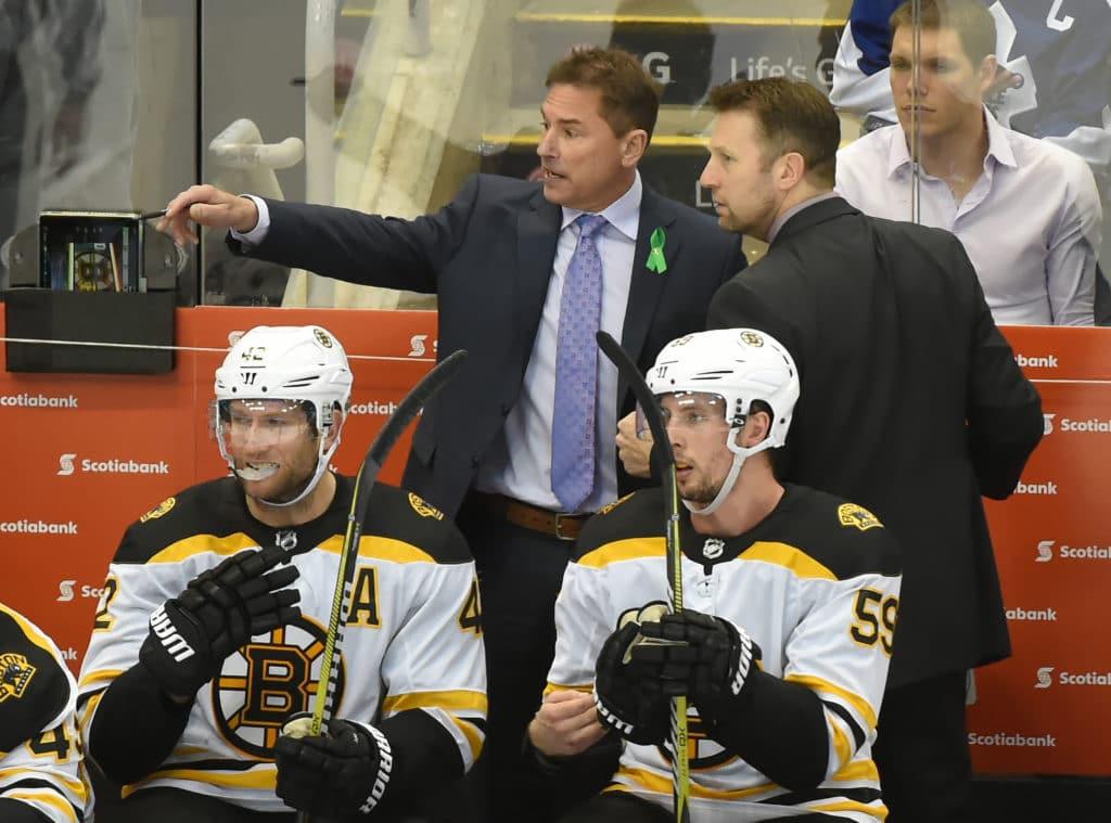 Danton Heinen in the Bruins' lineup for Game 7