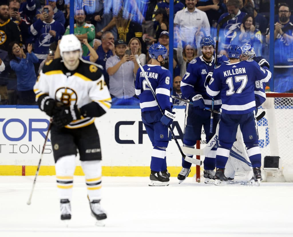 Resilient Lightning down Bruins to knot series 1-1