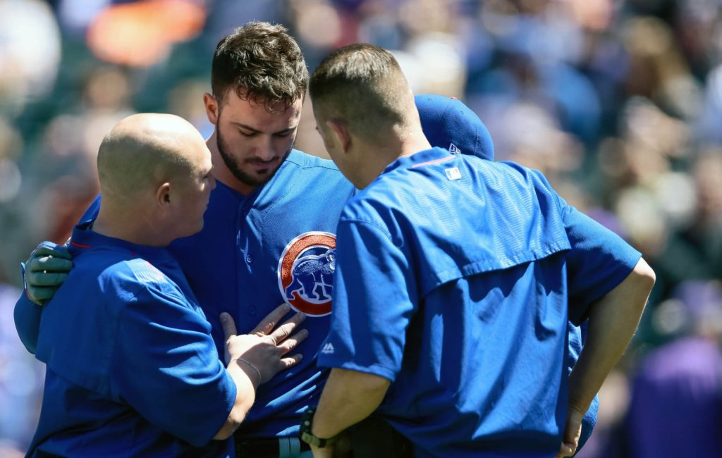 Cubs' Kris Bryant out of lineup again after Sunday HBP