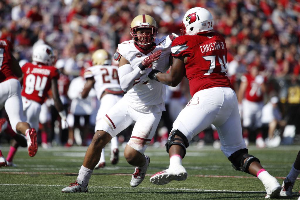 The Titans draft Boston College linebacker Harold Landry