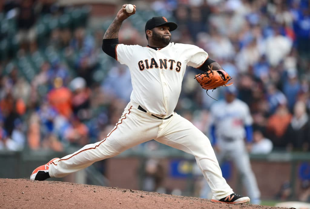Dodges romp past Giants in first game of doubleheader