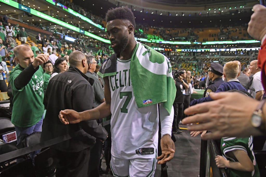 King Jaylen Brown's injury casts shadow over Game 7 win vs. Bucks