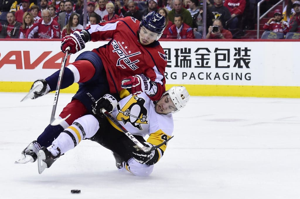 National Hockey League  playoffs: Capitals beat Penguins in Game 2