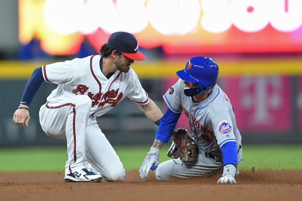 New York Mets SP Jacob deGrom exits Braves start with hyperextended elbow