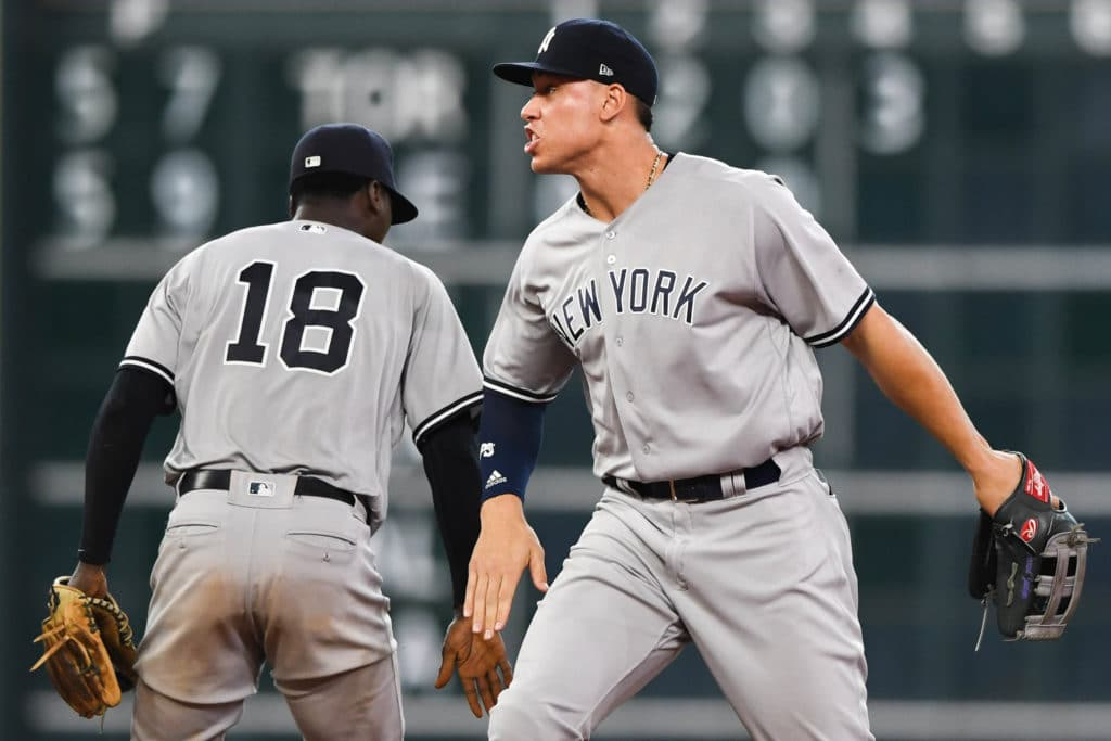 Didi Gregorius (head) out of Yankees' lineup on Saturday