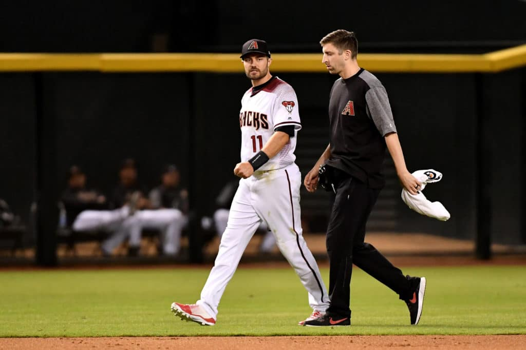 AJ Pollock exits Diamondbacks' Monday game with sprained thumb