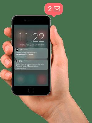 Sistema CRM notificaciones en tiempo real