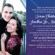 Serena and Jonathan Front Wedding Invitations