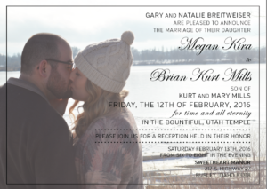 Brian and Megan Front Wedding Invitations