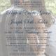 Peyton and Joseph Front Wedding invitations
