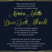 Monica and Dane-5x7 front Wedding Invitations