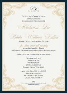 Mackenzie and Blake Front Wedding Invitations