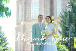 Natalie and Ryan Thank you front Wedding Invitations