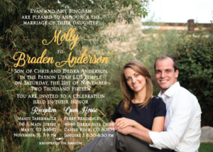 Molly and Braden 5x7 front Wedding Invitations