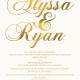 Alyssa and Ryan Front Wedding Invitations