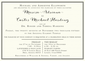 Marisa and Curtis Front Wedding Invitations