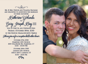 Katherine and Gary 5x7 front Wedding Announcements