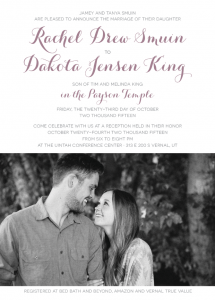 drew wedding invites