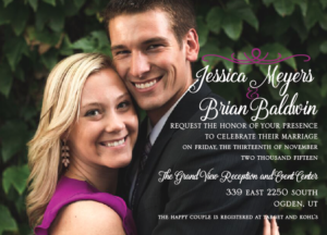 Jessica and Brian 5x7 front Wedding Announcements