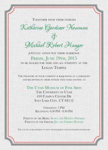 Katharine-Newman-Back Wedding Invitations