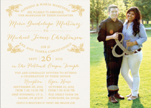 Michael and Lulu Front Wedding Invites