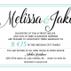 Melissa and Jake Front Wedding Invitations