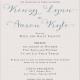 Kinzy and Aaron Front Wedding Invitations