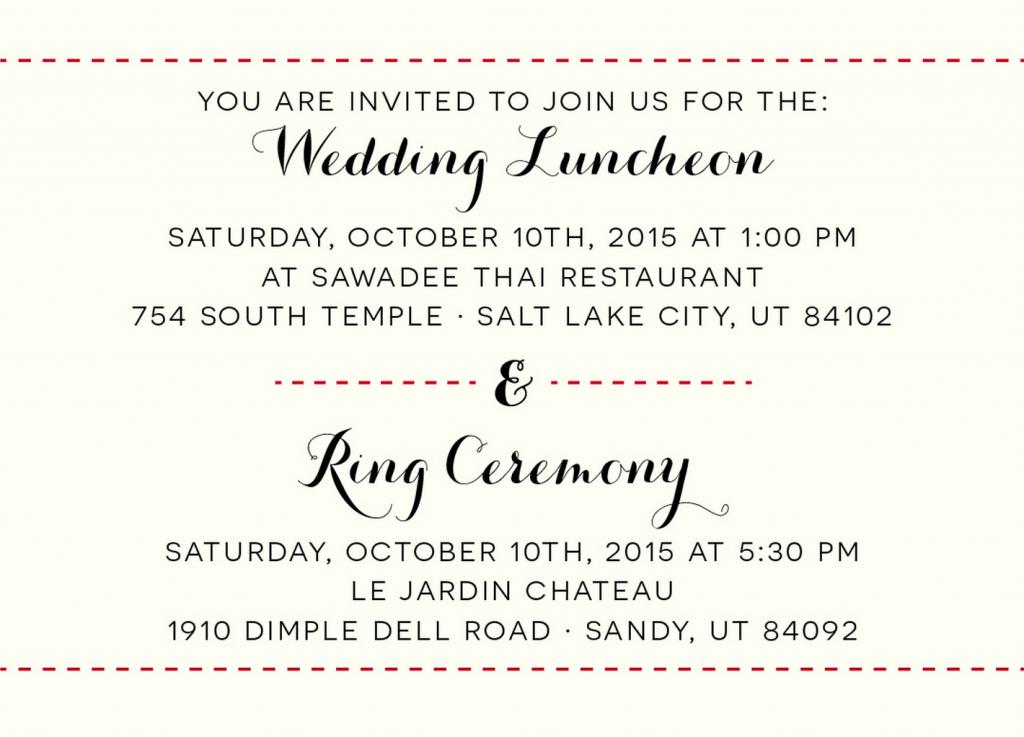 Colleen Luncheon Insert Wedding Invitations