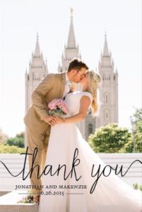 Jonathan and Makenzie THC Front wedding invitations