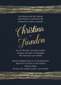 Christina and Trandon Front Wedding Invitations
