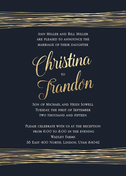 Christina and Trandon Front Wedding Invitations