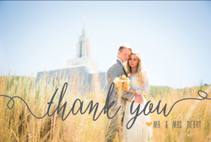 Berklee Baum THC front wedding invitations