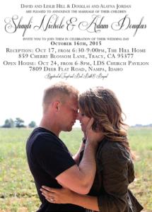 Shayli Hill Front Wedding Invitations