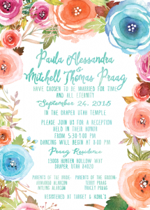 Paula and Mitch front Wedding Announcements