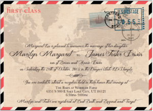 Marilyn and Foster Front Wedding Invitations