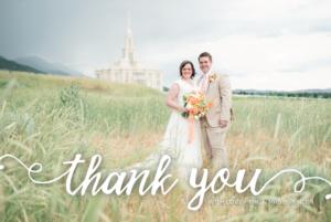 Caitlin Spencer THC Front Wedding Invites