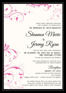 Shannon and Jeremy Front Wedding Invitations