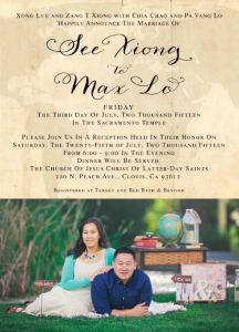 See and Max Front Wedding Invites