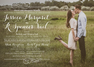Jessica and Spencer Front Wedding Invitations