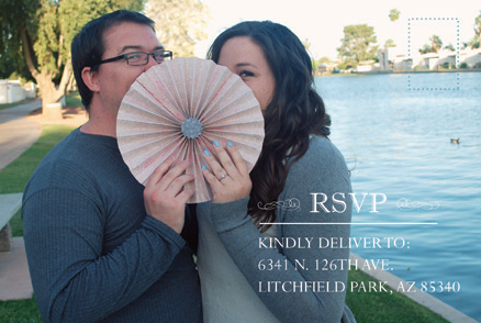 Megan and Noble RSVP Front Wedding Invitations